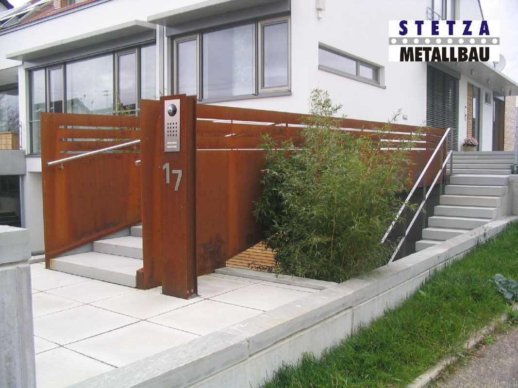 Corten Stahl Stetza Metallbau De